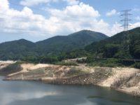 貯水率が下がっている嘉瀬川ダム