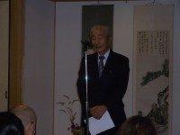 開会式・ 永谷宗円翁顕彰会会長安井様