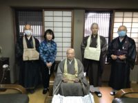 萬福寺 近藤管長猊下へコロナの終息を願い写経を奉納